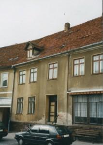 Wohn- und Geschäftshaus in Malchow vor der Instandsetzung