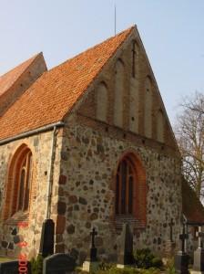 Chor der Kirche Lichtenhagen vor der Instandsetzung